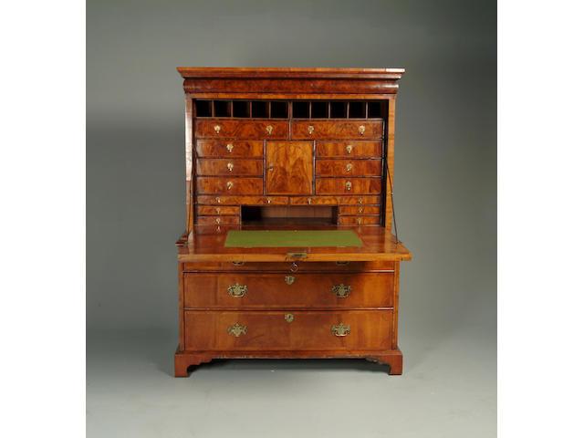 A Queen Anne walnut escritoire