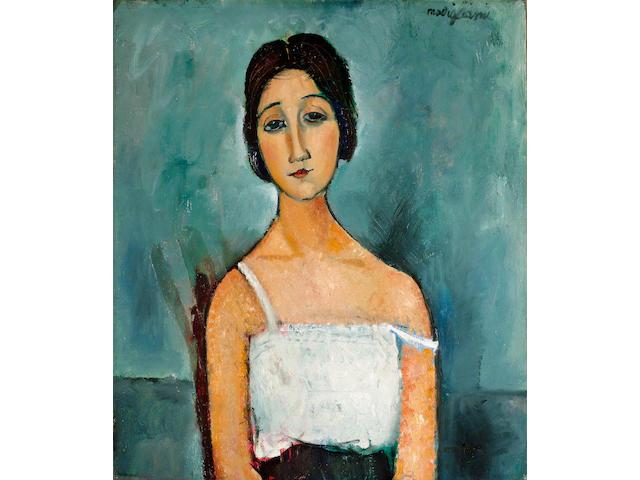 Amedeo Modigliani (1884-1920) Portrait de femme 80 x 69 cm. (31.5 x 27 1/8 in.)