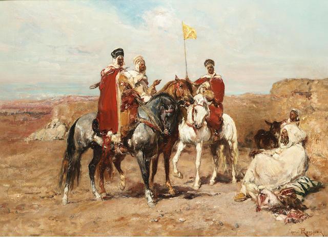 Henri Emilien Rousseau (French 1875-1933) The desert meeting 54 x 74 cm. (21 1/4 x 29 in.)
