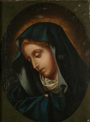 Continental School, 19th Century After Carlo Dolci, The Madonna, 11.2 x 8.5 in. (28.2 x 21.5 cm)