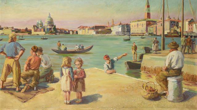 Duncan Grant (1885-1978) Venice 55 x 102 cm. (21 5/8 x 40 1/8 in.)