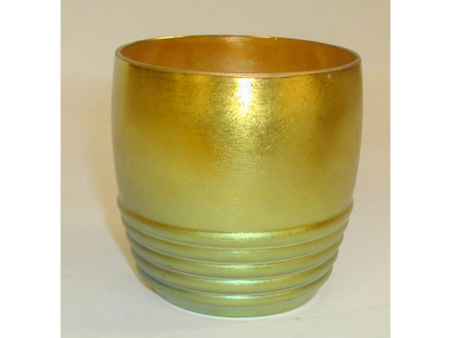 A W.M.F. Ikora iridescent glass beaker,