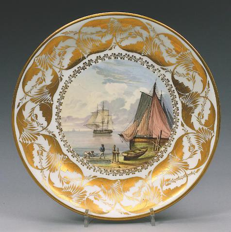 A rare Swansea saucer dish circa 1815-17