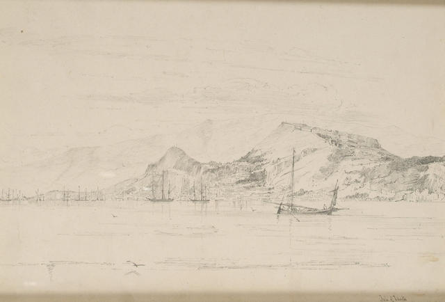 Mary Dalrymple (mid 19th Century) The Isle of Zante 22.8 x 33 cm. and four other landscapes by the same hand (5).
