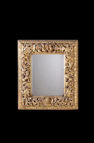 Charles II carved giltwood Mirror,