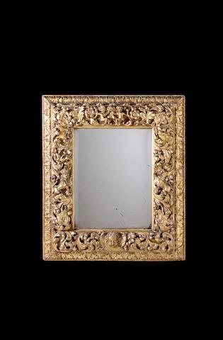 Charles II carved giltwood Mirror,