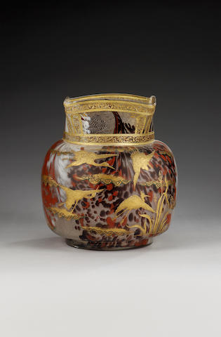 A large French Aesthetic vase, circa 1890,