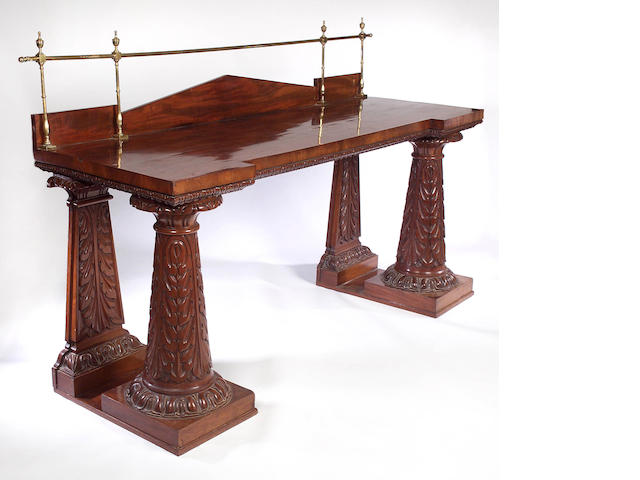 A 19th Century mahogany inverted breakfront Serving Table,