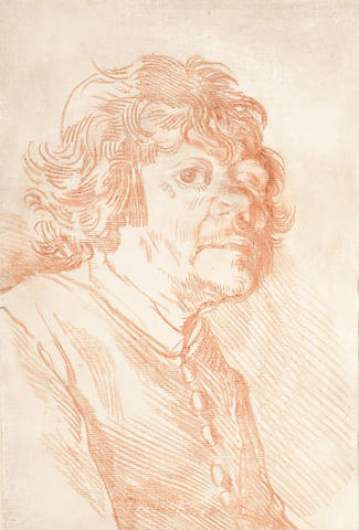 Venetian School, 18th Century, Counterproof, bust length portrait of a man, turned to the right,
