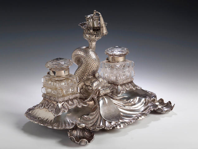 A 19th century Indian colonial inkstand,