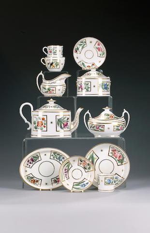 A Spode part tea and coffee service, circa 1805-10,