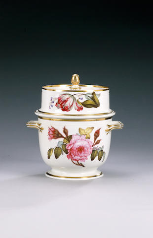 A Derby ice pail, cover and liner, circa 1815,