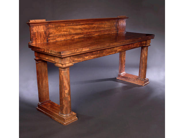 A William IV mahogany twin pedestal Serving Table,