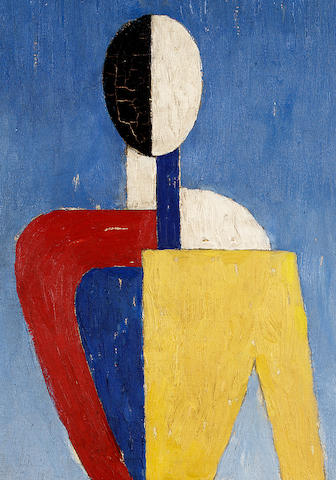Kazimir Malevich (1878-1935) Suprematist Figure 71 x 44.5 cm. (28 x 17 1/2 in.)