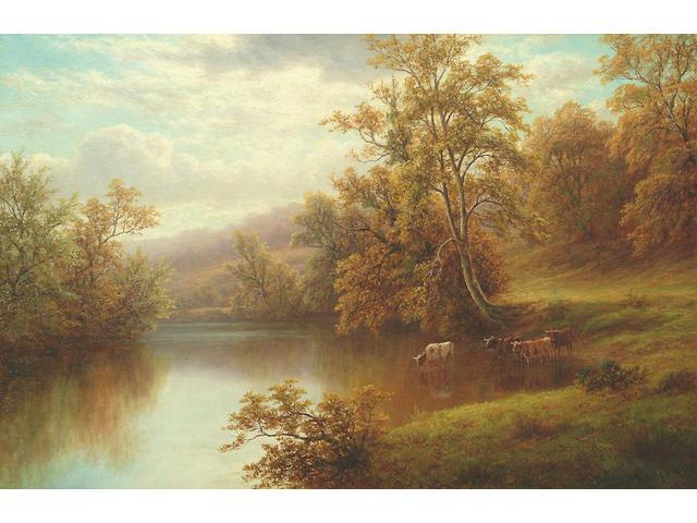 "William Mellor (1851-1931) ""On the Nidd, near Knaresborough, Yorkshire"" 40 x 59.5cm"