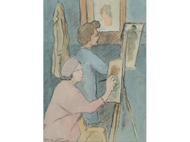 Thomas Rathmell (1912-1990) 'Artclass' 47 x 35cm