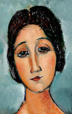 Amedeo Modigliani (1884-1920) Christina 80 x 69 cm. (31.5 x 27 1/8 in.)