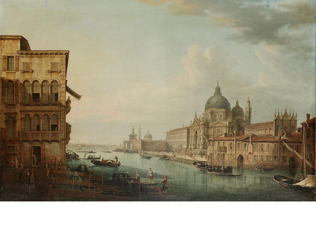 Venetian School, early 19th Century The Grand Canal, Venice,  58 x 86 cm. (22 7/8 x 33 7/8 in.)