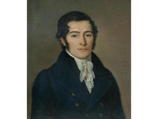 French School (19th Century) 'Portrait of a gentleman' 56 x 49cm