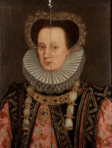English School, 16th Century Portrait of a noblewoman, said to be Queen Mary, 67 x 52 cm. (26 3/8 x 20½ in.)