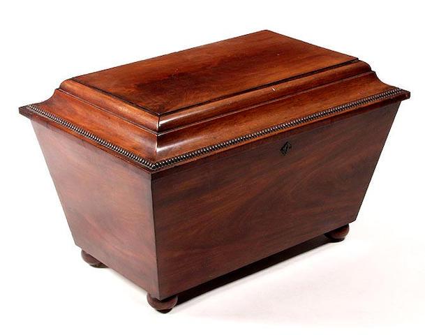 A William IV mahogany wine cooler