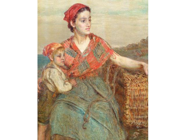 Alice Grant ARA (fl.1881-1907) 'What is it?' 60 x 48cm