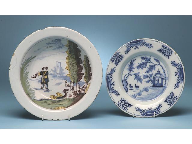 A Liverpool Delft bowl, circa 1760,
