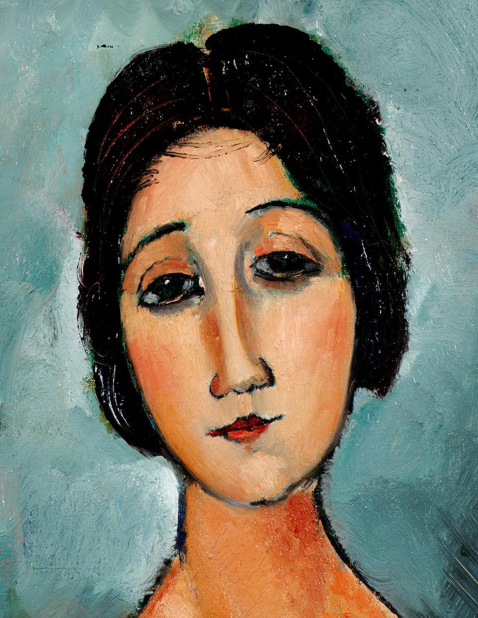 Amedeo Modigliani (1884-1920) Christina 80 x 69 cm. (31.5 x 27 1/8 in.)