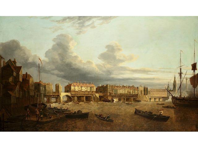 John Paul The Thames at Old London Bridge, 30 x 50 in. (76.2 x 127 cm.)