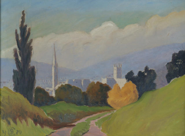 Douglas Stannus Gray (1890-1959) 'The City of Bath, viewed from the south' 30 x 40cm