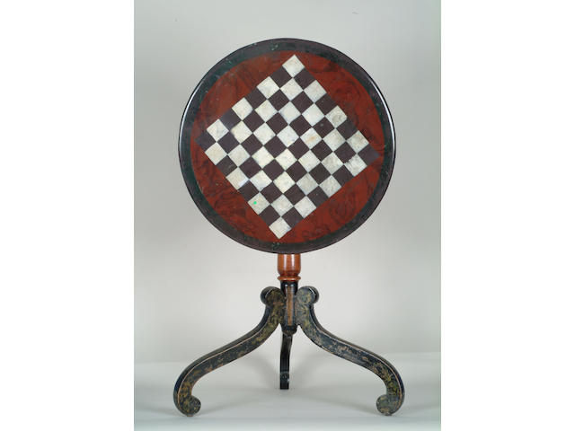 A 19th Century Aberystwyth slate chess table