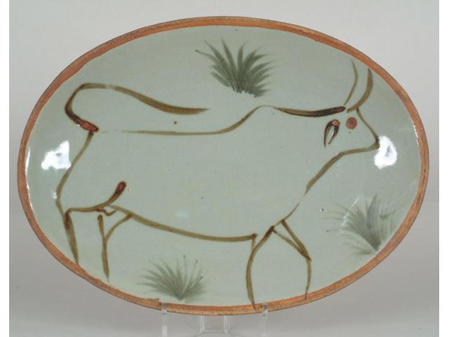 A Michael Cardew stoneware meat platter