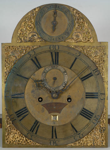 An 18th Century oak and walnut longcase clock