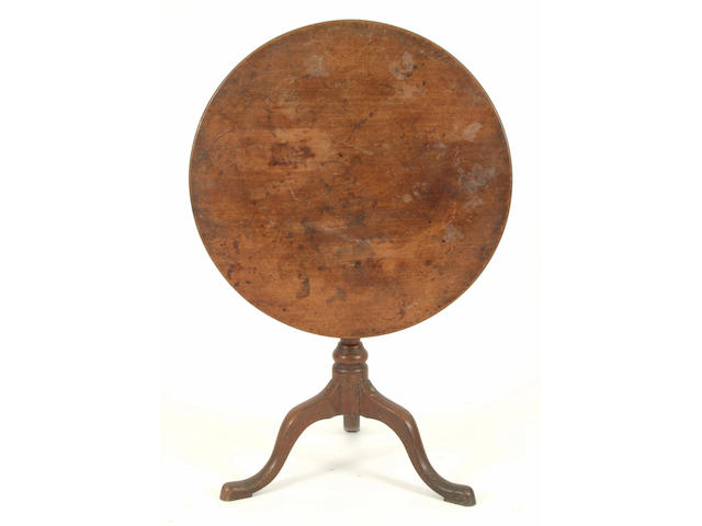 An 18th Century mahogany circular tripod table