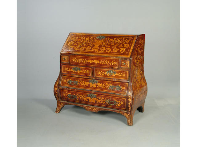 An 18th century Dutch marquetry bureau