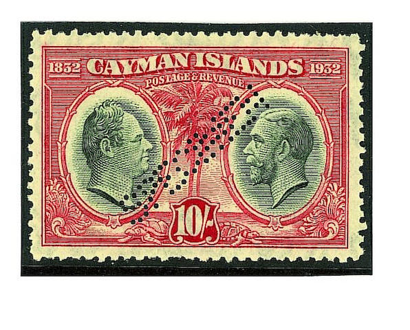 """Cayman Islands: 1932 Centenary set overprinted """"SPECIMEN"""" with gum, small perf. imperfections otherwise fine and fresh a scarce set. SG £450 (108)"""