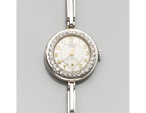 A diamond set wristwatch