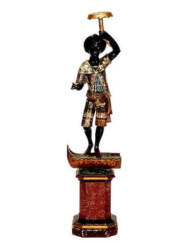 A 19th Century blackamoor figure
