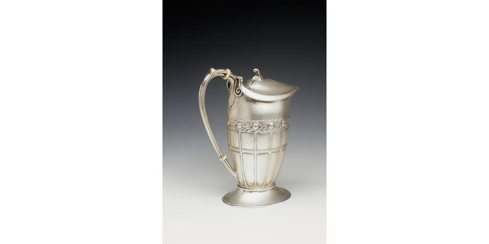 A stylish jug by Omar Ramsden & Alwyn Carr, 1915,