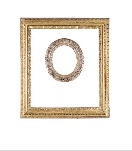 An Italian 18th Century carved and gilded 'Salvator Rosa' frame,