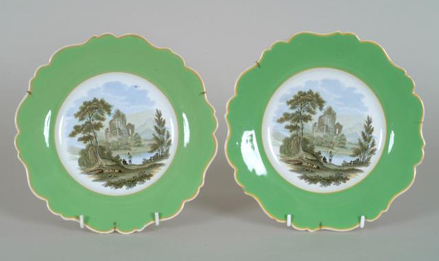 A pair of Prattware plates