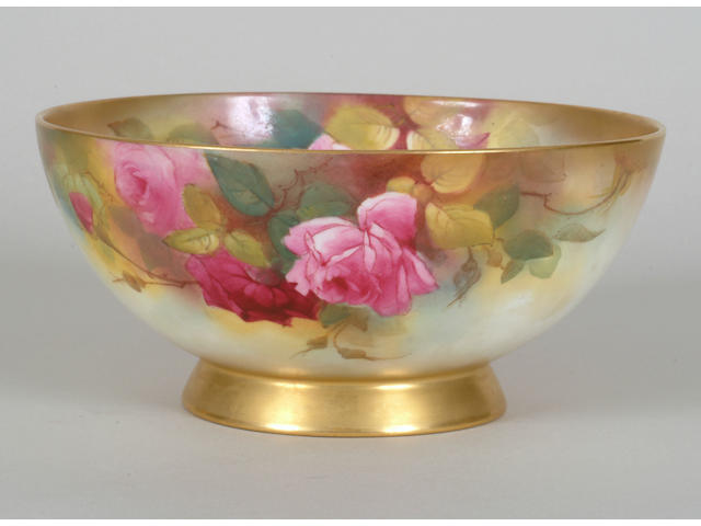 A Royal Worcester fruit bowl