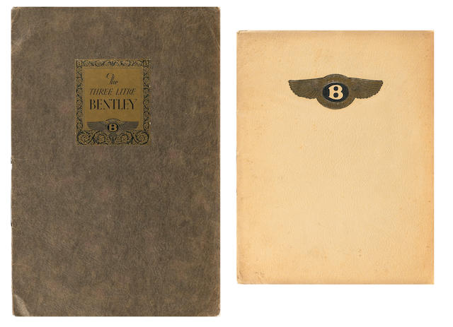 A rare Bentley 3 Litre sales catalogue No. 15, Oct 1926,