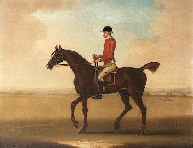 James Seymour (London 1702-1752) Sedbury with jockey up 30 x 37.5 cm. (11¾ x 14¾ in.)