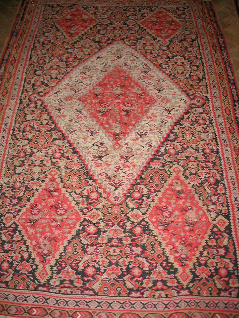 A Senneh kilim West Persia, 194cm x 126cm and another kilim (2)