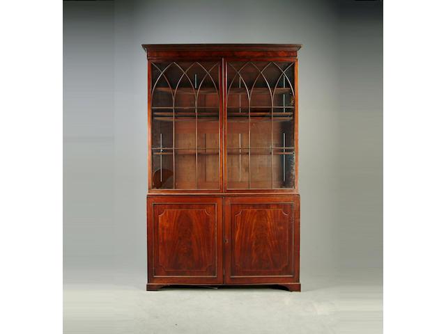 A Regency mahogany bookcase