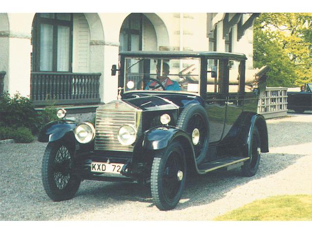 1925 Rolls-Royce 20hp Landaulette  Chassis no. GNK55 Engine no. G1253