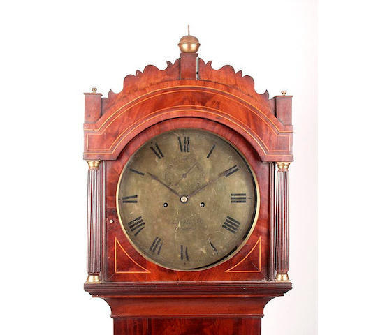 A mahogany cased eight day longcase clockCharles Alexander, Barnstaple