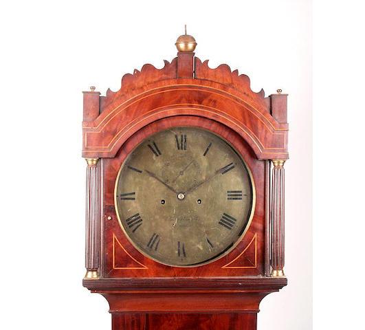 A mahogany cased eight day longcase clockCharles Alexander, Barnstaple