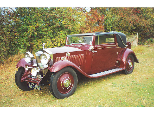 R-R.E.C. Concours d'Élégance-Winning,1933 Rolls-Royce 20/25hp Sedanca Coupé in the style of J Gurney Nutting & Co. Ltd.  Chassis no. GBA 73 Engine no. N8C